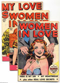 Golden Age (1938-1955):Romance, Fox Romance Group (Fox, 1949-50) Condition: Average VG/FN.Eight-issue group includes My Story #7, 9, and 12; Women in... (8Comic Books)