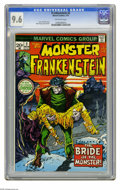 Bronze Age (1970-1979):Horror, Frankenstein #2 (Marvel, 1973) CGC NM+ 9.6 Off-white pages. MikePloog cover and art. Overstreet 2005 NM- 9.2 value = $42. C...