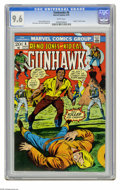 "Bronze Age (1970-1979):Western, Gunhawks #6 (Marvel, 1973) CGC NM+ 9.6 White pages. ""Death"" of Kid Cassidy. Herb Trimpe cover. Dick Ayers and Vince Colletta... (1 )"