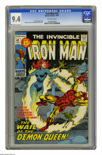 Iron Man #42 (Marvel, 1971) CGC NM 9.4 Off-white pages. George Tuska and Frank Giacoia cover and art. Overstreet 2005 NM...