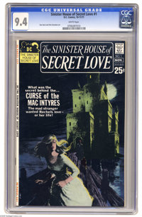 Sinister House of Secret Love #1 (DC, 1971) CGC NM 9.4 White pages. Don Heck and Dick Giordano art. 52 pages. Overstreet...