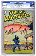 Golden Age (1938-1955):Science Fiction, Strange Adventures #46 (DC, 1954) CGC FN+ 6.5 Light tan tooff-white pages. Flying saucer cover and story. Murphy Andersonc...