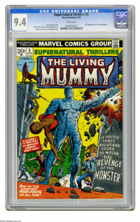 Supernatural Thrillers #5 (Marvel, 1973) CGC NM 9.4 White pages. First appearance of the Living Mummy. George Tuska and...