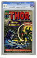 Silver Age (1956-1969):Superhero, Thor #134 (Marvel, 1966) CGC VF+ 8.5 Off-white pages. First appearance of the High Evolutionary. Galactus cameo. Tales of As... (1 )