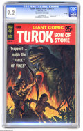 Silver Age (1956-1969):Adventure, Turok, Son of Stone Giant #1 File Copy (Gold Key, 1966) CGC NM- 9.2 Cream to off-white pages. Reprints #10, 11, 12, and 16. ...