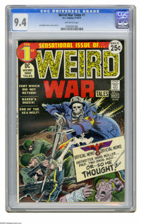 Weird War Tales #1 (DC, 1971) CGC NM 9.4 Off-white pages. The debut issue of the long-running war title that would give...