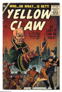 Yellow Claw, The #1 (Atlas, 1956) Condition: VG-. Origin. Joe Maneely cover and art. Overstreet 2005 VG 4.0 value = $192...