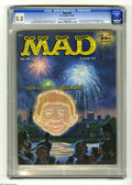 """Magazines:Mad, Mad #34 (EC, 1957) CGC FN- 5.5 Cream to off-white pages. Fredric Wertham and """"TV Guide"""" parodies. Dave Berg art begins. Norm..."""