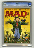"""Magazines:Mad, Mad #43 (EC, 1958) CGC FN+ 6.5 Creak to off-white pages. """"The End of Comics"""" parody with Little Orphan Annie, Dick Tracy, Po..."""