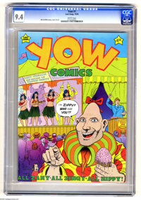 Yow Comics #1 (Last Gasp, 1978) CGC NM 9.4 White pages. Zippy appearance. Bill Griffith story, cover, and art. Adult-the...