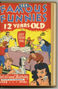 Golden Age (1938-1955):Miscellaneous, Famous Funnies #133-144 Bound Volume (Eastern Color, 1945-46). These are Western Publishing file copies that have been trimm...