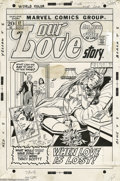 Original Comic Art:Covers, Sal Buscema and John Verpoorten - Our Love Story #17 Cover OriginalArt (Marvel, 1972). How could Jack do that to poor Tracy... (2items)