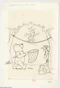 Original Comic Art:Covers, John Carey - Winnie the Pooh #22 Cover Original Art (Whitman,1980). The ever-helpful Winnie the Pooh stands by with a safet...