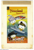 Original Comic Art:Covers, Western Publishing Artist - Disneyland Coloring Book Cover OriginalArt (Dell, 1960). Huey, Dewey, and Louie star in this te...