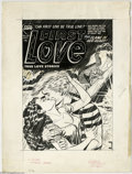 Original Comic Art:Covers, Joe Certa - First Love Illustrated #30 Cover Original Art (Harvey,1953). Once before she fled from him -- in scorn! This ti...