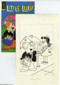 Original Comic Art:Covers, Western Publishing Artist - Little Lulu #236 Cover Original Art(Gold Key, 1976). Tubby skips the middle-man and delivers th... (2items)
