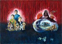 "Return of the Jedi by Mark J. Mancini (20th Century Fox, 1983). Signed Oil on Canvas Promotional Artwork (50"" X 36&..."