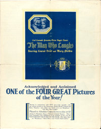 """The Man Who Laughs (Universal, 1928). Uncut Pressbook (8 Pages, 18"""" X 23"""")"""