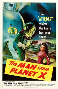 "The Man from Planet X (United Artists, 1951). One Sheet (27"" X 41"")"