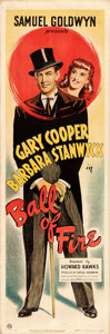 "Movie Posters:Comedy, Ball of Fire (RKO, 1941). British Door Panel (19.25"" X 59.25"")....."
