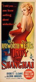 "Movie Posters:Film Noir, The Lady from Shanghai (Columbia, 1947). Australian Daybill (13.25""X 30"").. ..."