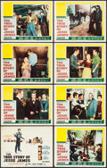 """Movie Posters:Western, The True Story of Jesse James (20th Century Fox, 1957). Very Fine-.Lobby Card Set of 8 (11"""" X 14""""). Western.. ... (Total: 8 Items)"""