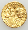 Ancients:Byzantine, Ancients: Heraclius (AD 610-641) and Heraclius Constantine (AD613-641). AV solidus (4.44 gm). XF, bent....