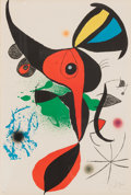 Fine Art - Work on Paper:Print, Joan Miró (1893-1983). Oda a Joan Miró, 1973. Lithograph incolors on Guarro paper, with full margins. 34-1/2 x 24 inche...