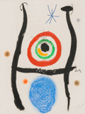 Prints & Multiples, Joan Miró (1893-1983). Le Bleu de la Cible, 1974. Etching, aquatint, and carborundum in colors on paper, with full margi...