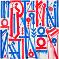 Fine Art - Painting, American:Contemporary   (1950 to present)  , RETNA (American, b. 1979). Brooks of the Mark, 2014. Acrylicon canvas. 60 x 60 inches (152.4 x 152....