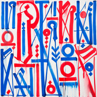 RETNA (American, b. 1979) Brooks of the Mark, 2014 Acrylic on canvas 60 x 60 inches (152.4 x 152