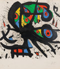 Prints & Multiples, Joan Miró (1893-1983). Agora I, 1971. Lithograph in colors on wove paper, with full margins. 35 x 30-1/2 inches (88.9 x ...