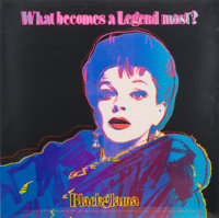 Andy Warhol (1928-1987) Blackglama (Judy Garland), from Ads, 1985 Screenprint in colors o