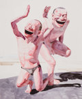 Prints & Multiples, Yue Minjun (Chinese, b. 1962-). Untitled (Smile-ism No. 20), 2006. Lithograph in colors on wove paper. 43-1/2 x 35-1/4 i...