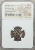 Ancients:Celtic, Ancients: BRITAIN. Durotriges. Ca. 65 BC-AD 45. BI stater (4.88gm).NGC MS 5/5 - 5/5....