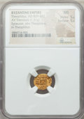 Ancients:Byzantine, Ancients: Theophilus (AD 829-842). AV tremissis (1.31 gm). NGC MS5/5 - 5/5....