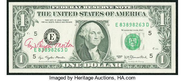 1977 $1 Federal Reserve Star Note FR 1909-G* Chicago