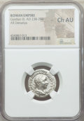 Ancients:Ancient Lots , Ancients: ANCIENT LOTS. Roman Imperial. AD 222-244. Lot of two (2)AR denarii. NGC Choice AU.... (Total: 2 coins)