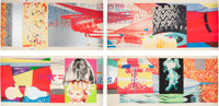 James Rosenquist (1933-2017) F-111 (South, West, North, East) (four works), 1974 Lithographs with sc