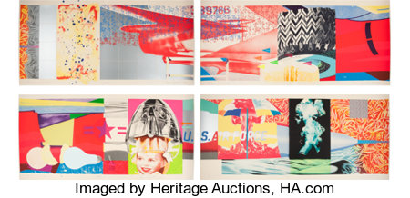 James Rosenquist (1933-2017)F-111 (South, West, North, East) (four works), 1974Lithographs with screenprint in color... (Total: 4 Items)
