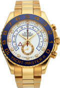 Timepieces:Wristwatch, Rolex Ref, 116688 Yellow Gold Yacht-Master II Oyster Perpetual. ...