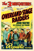 "Movie Posters:Western, Overland Stage Raiders (Republic, 1938). One Sheet (27"" X 41"")....."