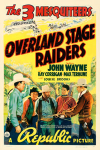 """Overland Stage Raiders (Republic, 1938). One Sheet (27"""" X 41"""")"""