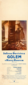 """Movie Posters:Horror, The Golem (AB Film, 1936). Czech Poster (12.5"""" X 37.25).. ..."""