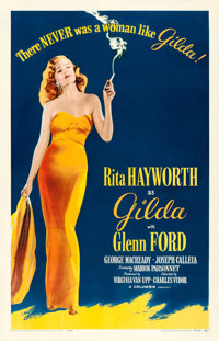 "Gilda (Columbia, R-1959). One Sheet (27"" X 41"")"