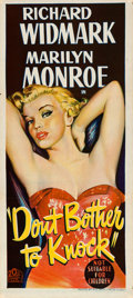 """Movie Posters:Film Noir, Don't Bother to Knock (20th Century Fox, 1952). Australian Daybill(13.5"""" X 30"""").. ..."""