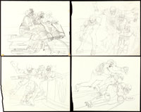 Rollerball Original Preliminary Design Sketches by Bob Peak (United Artists, 1975). Hand Drawn Art Pages (32) (11.75&quo...