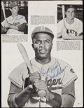 Autographs:Photos, Jackie Robinson and Others Signed Magazine Page.. ...
