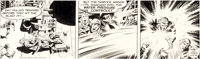 Jack Kirby and Wally Wood Sky Masters Daily Comic Strip Original Art dated 6-5-59 (George Matthew Adams Service, 1
