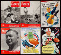Football Collectibles:Programs, 1948-1954 Green Bay Packers Program Lot of 6.. ...